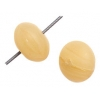 Glass Pressed Beads 8mm Round Mustard Matt